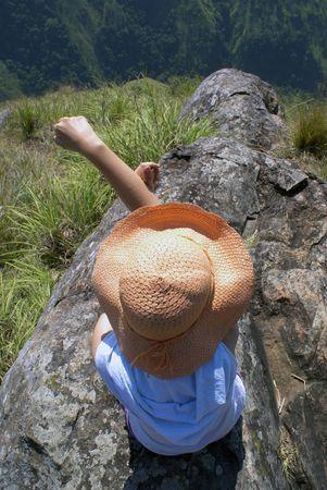 On the top of Ella Rock, Sri Lanka                    Stock Photo - 1809958