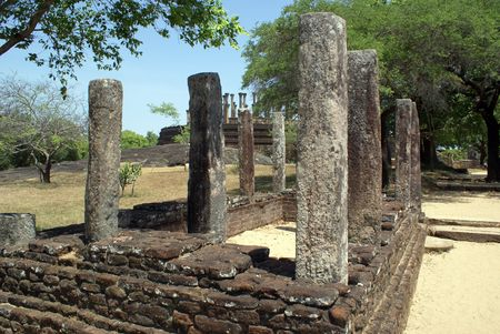 vihara: Ruins near Mandalagiri Vihara, Sri Lanka