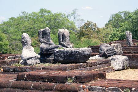 vihara: Brick wall in Mandalagiri Vihara, Sri Lanka