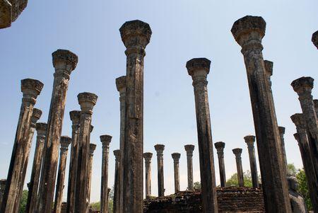 vihara: Pillars of Mandalagiri Vihara, Sri Lanka
