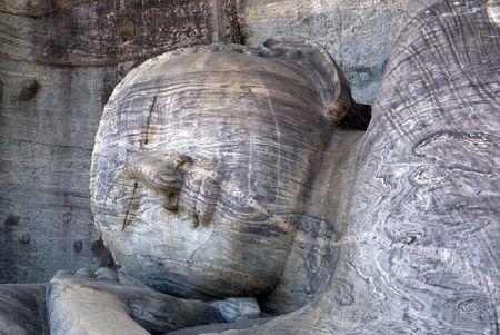 vihara: Big Buddha in Gal Vihara, Polonnaruwa, Sri Lanka                     Stock Photo