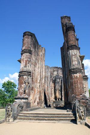 Buddhist temple in Polonnaruwa, Sri Lanka                  Stock Photo - 1858573