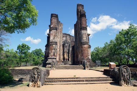Temple Lankatylaka in Polonnaruwa, Sri Lanka