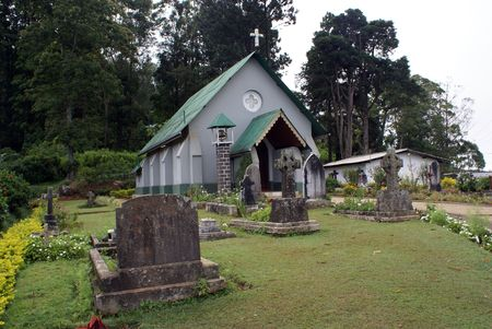 Anglican church in Haputale, Sri Lanka                photo