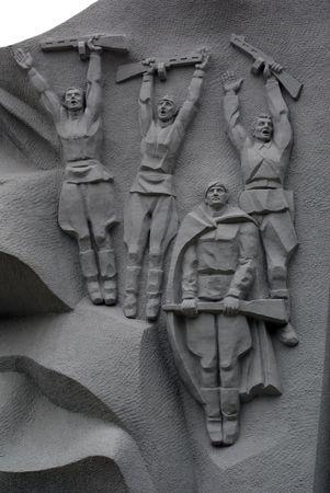 world war two: Monument heroes of World War Two in Guryevsk, Kaliningrad region, Russia