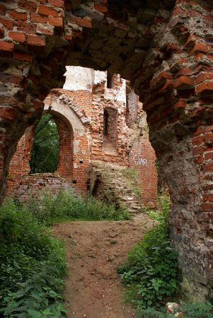 Brick wall of castle Balga, Prussia, Kaliningrad region, Russia Stock Photo - 2017491