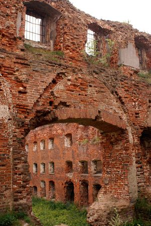 Old castle in Neman, Prussia, Kaliningrad, Russia                photo