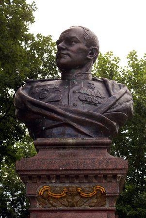 nesterov: Monument on the main square of Nesterov, Prussia, Kaliningrad, Russia
