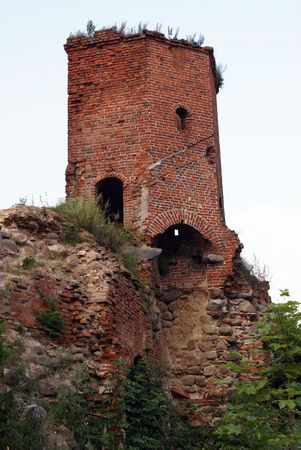 Red tower in castle Georgenburg, Chernyahovsk, Prussia, Russia Stock Photo - 2042852