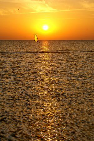 azov sea: Sunset near Dolshanka, Azov sea, south part of Russia