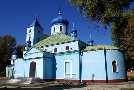 azov sea: Blue church in Eysk, Azov sea coast, south Russia