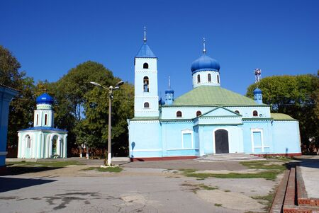 azov sea: Blue church in Eysk, Azov sea coast, south part of Russia