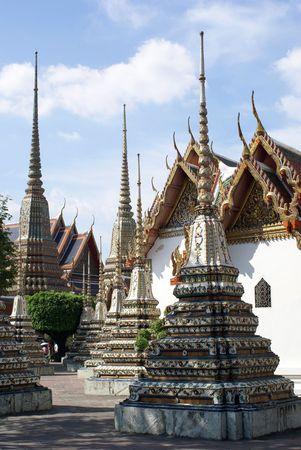 exoticism: Stupas in the inner yard of wat Pho, Banmgkok