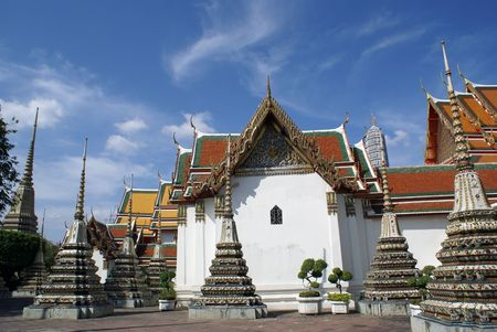 stupas: Stupas in Wat Pho, Bangkok, Thailand
