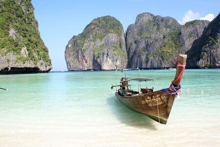 Boat on the beach, Ko Phi Phi island, Thailand