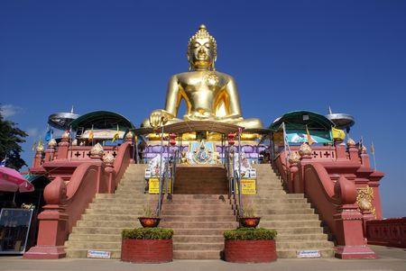 veneration: Buddha and staircase