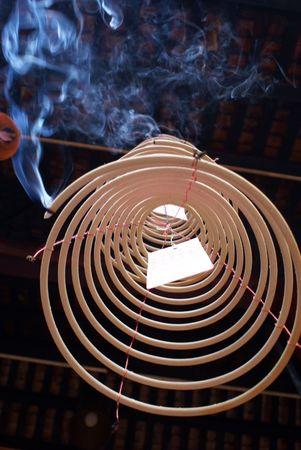 exoticism: Smoke on the shrine, Kuala-Lumpur               Stock Photo