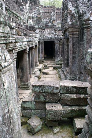 cambodia sculpture: Inside Bayon temple, Angkor, Cambodia