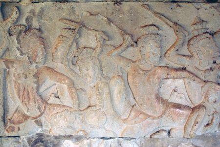 mahabharata: Warriors in Mahabharata, Wall of Angkor wat