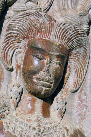apsara: Apsara on the wall of Angkor wat, Cambodia