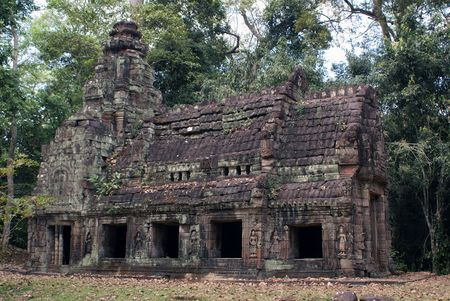 Small temple in the forest, Angkor, Cambodia                    photo