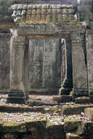 Gate to the temple, Angkor, Cambodia               photo