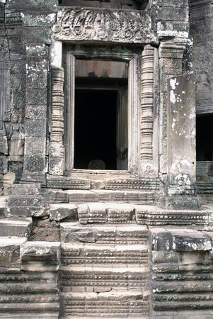 Door of the temple, Angkor, Cambodia                  photo