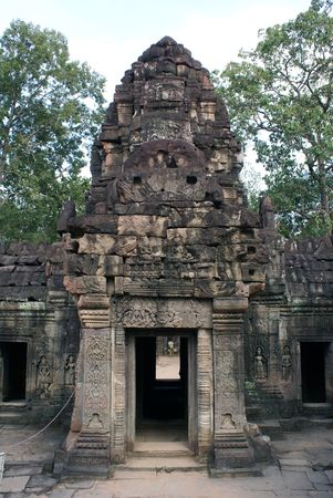 Entrance to temple, Angkor complex, Cambodia                photo
