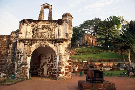 Old fort and gun in Melaka, Malaysia                photo