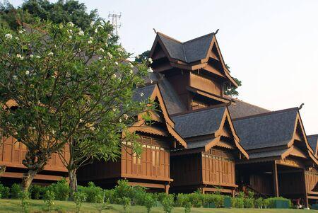 Royal palace and trees in Melaka, Malaysia