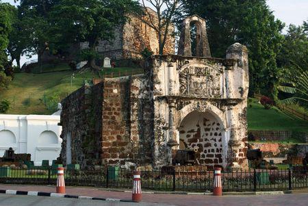 Old fort in Melaka, Malaysia
