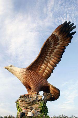 Wing of big eagle, Langkawi, Malaysia
