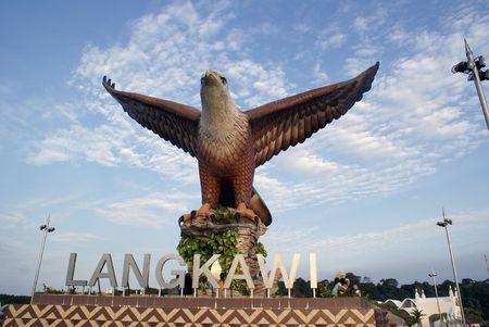 wingspread: Big eagle in Langkawi, Malaysia