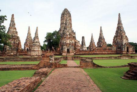 ayuthaya: Wat Chai Wattanaram in Ayuthaya in Thailand