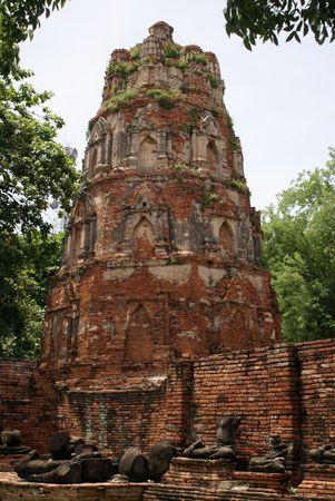 ayuthaya: Pagoda in wat Mahathat in Ayuthaya, Thailand