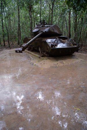 guerilla: Old american tank in Cu Chi, south Vietnam