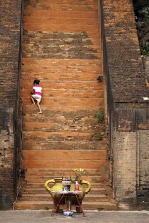 Srine near Po Nagar cham tower in Nha Trang                photo