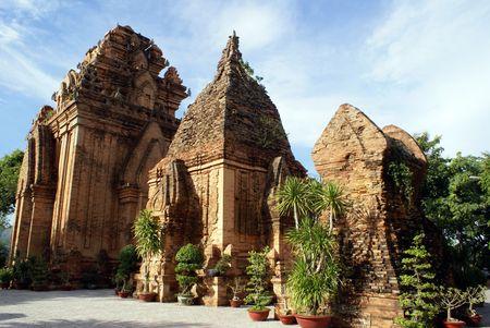 po: Po Nagar cham towerrs in Nha Trang, Vietnam              Stock Photo