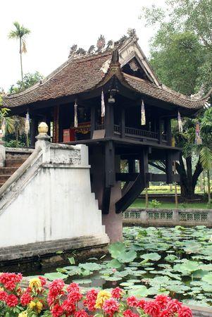 mot: Chua Mot Cot pagoda (One Pillar Pagoda) in Hanoi, Vietnam