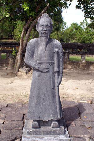 hue: Sculpture on the ground near royal tomb near Hue, Vietnam