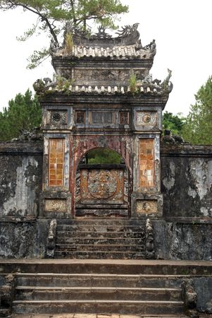 hue: Staircase and gate to Tu Duc tomb, Hue, central Vietnam