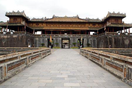 the citadel: Palazzo reale all'interno cittadella di Hue, Vietnam centrale