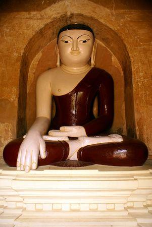Buddha in old buddhist temple in Bagan, Myanmar                 photo