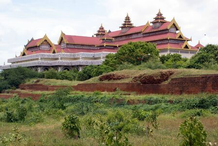 archeological: Building of Archeological museum in OLd Bagan, Myanmar
