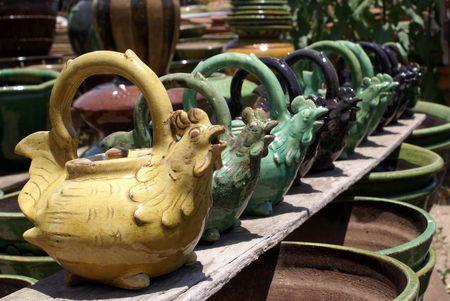 Teapots on the markert in Bagan. Myanmar                    photo
