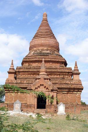 Brick pagoda in Bagan, Myanmar, burma                   photo