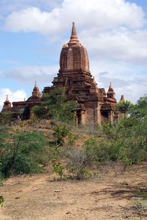 Brick temple in Bagan, Myanmar, burma            photo