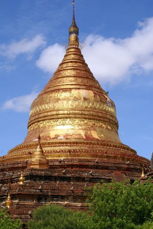 dhamma: Golden Dhamma Yazika pagoda in Bagan, Myanmar
