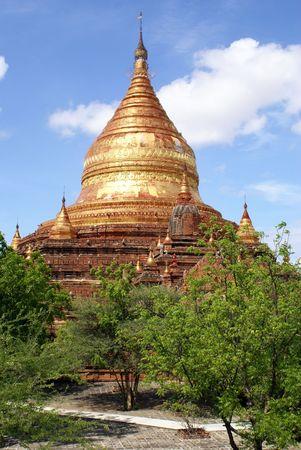 Golden Yazika Pagoda in Bagan, Myanmar                 photo