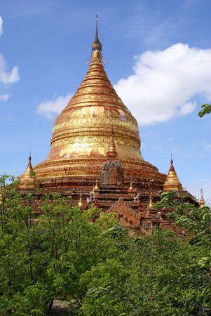 dhamma: Golden Dhamma Yazika pagoda in Bagan, Myanmar                   Stock Photo